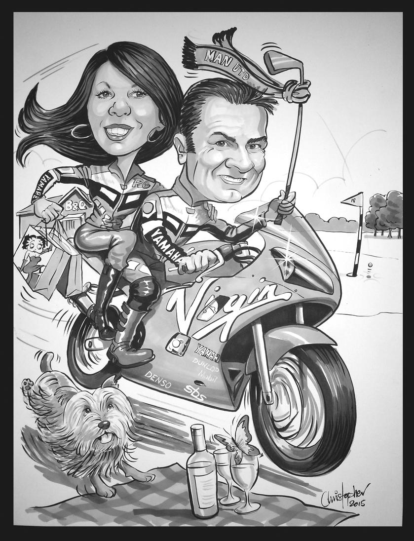 Motorbiking couple