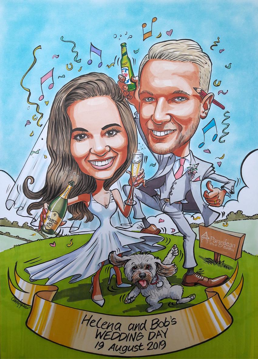 Helena and Bob wedding invitation