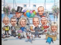 Shopping Centre group caricature