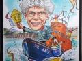 90th birthday caricature
