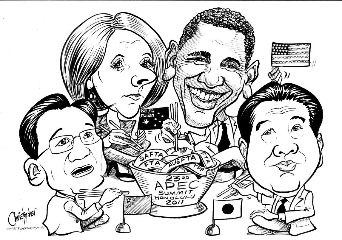 APEC Summit cartoon illustration