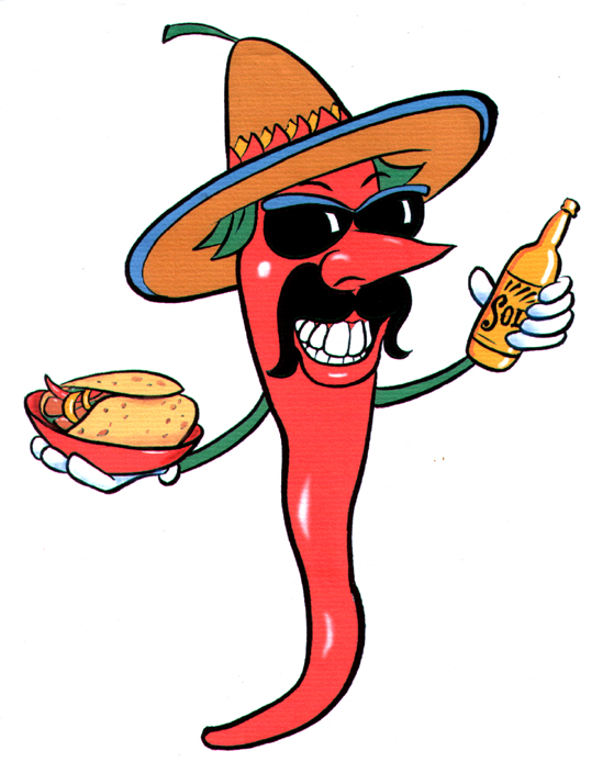 Chilli Mexican character illustration