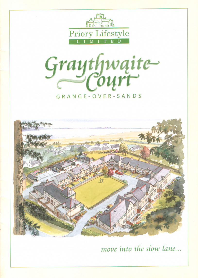 Graythwaite Court - ink and watercolour illustration