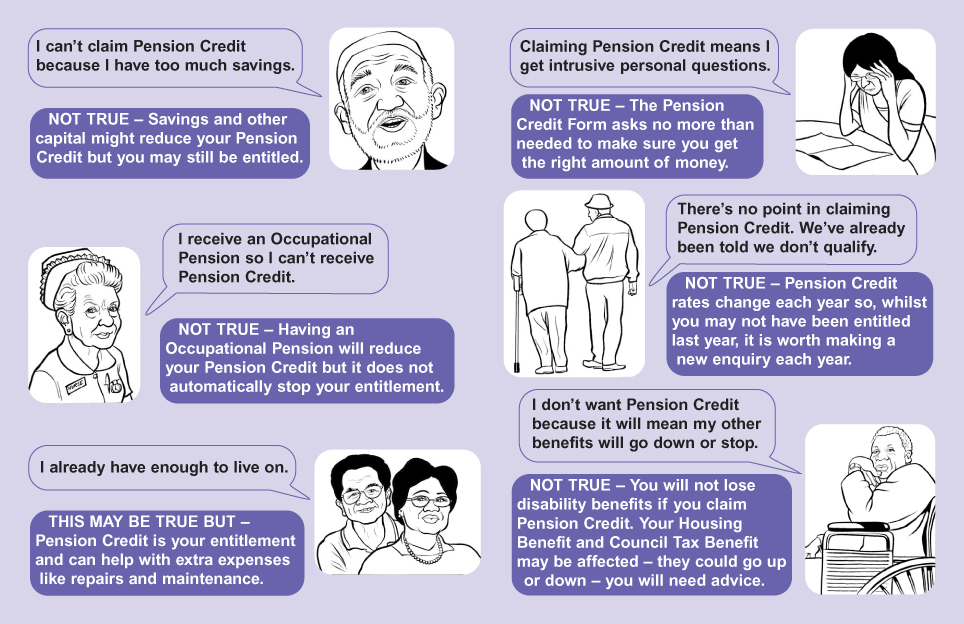 Myths About Pension Credit leaflet 2