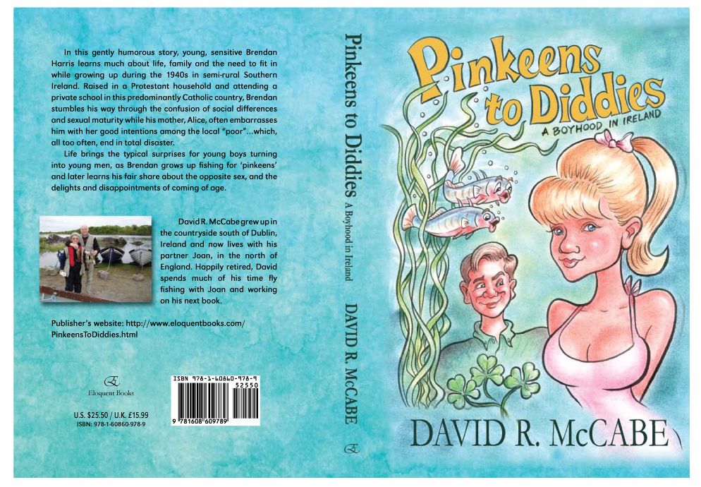 Pinkeens to Diddies  book cover illustration