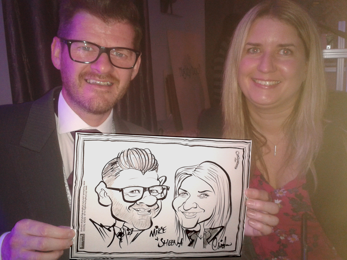 Caricature drawn at Ribby Hall