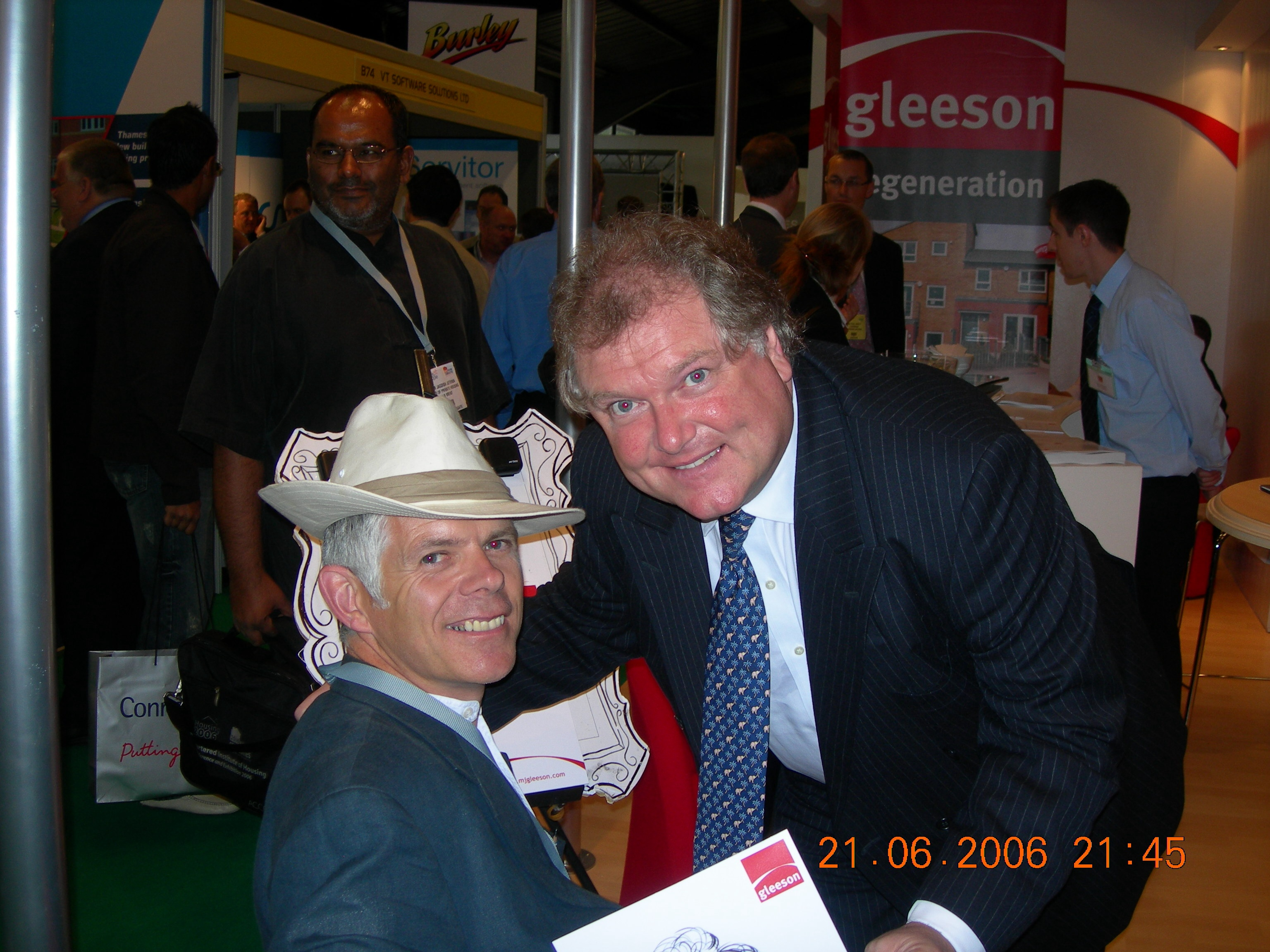 Chris caricature artist and Sir Digby Jones