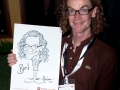 Caricature drawn at Celtic Manor July 2011