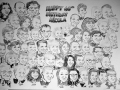Large group caricature drawn live