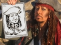 caricature of Jack Sparrow lookalike