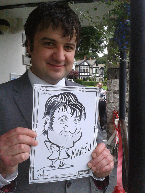 On-the-spot caricature by Christopher Murphy