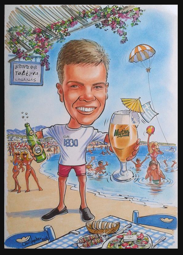 18th birthday caricature