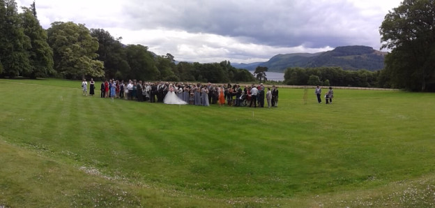 Wedding party at Armathwaite Hall